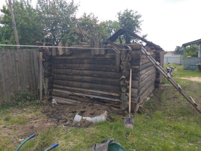 В селе Новоклязьминское Южского района сгорела баня