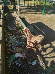 """Фото от наших читателей """"Грустная скамейка""""."""