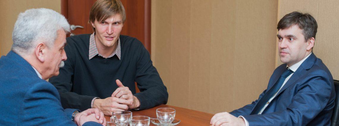 Глава Российской федерации баскетбола Андрей Кириленко с рабочим визитом посетил Ивановскую область