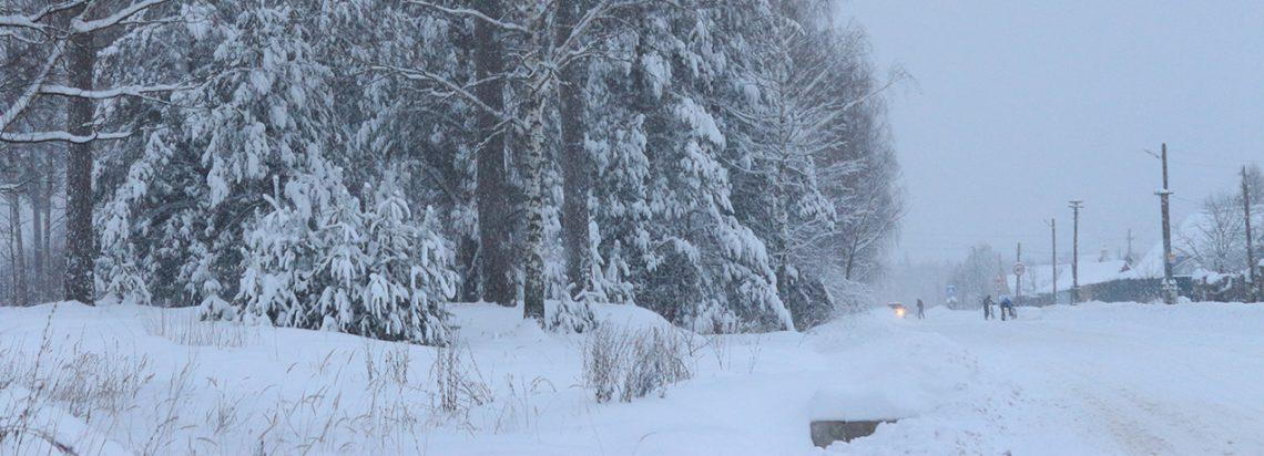 Такого снегопада давно не помнят здешние места...