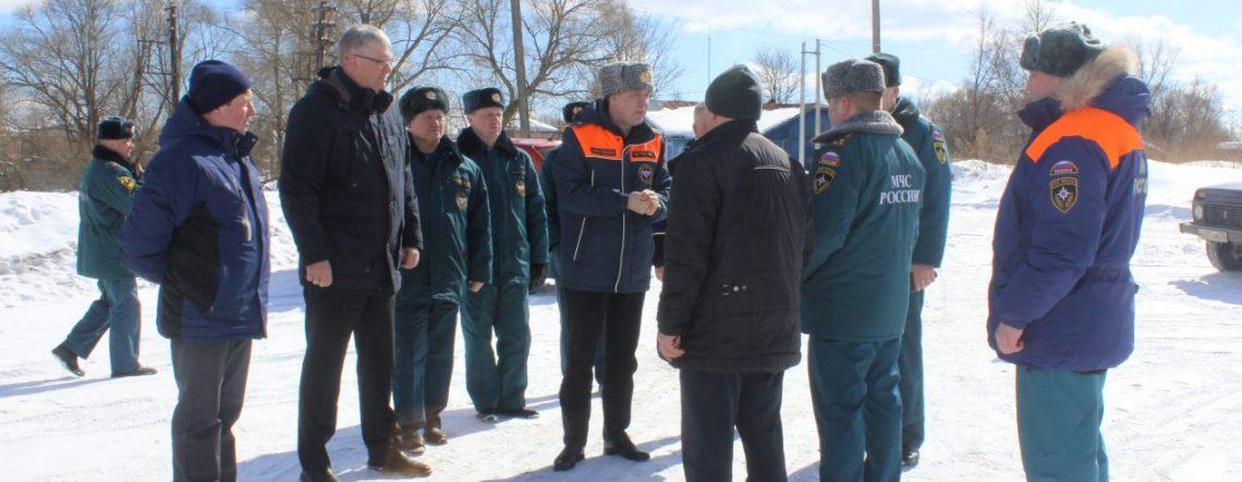 Генерал МЧС проверил готовность Южского района к весеннему паводку