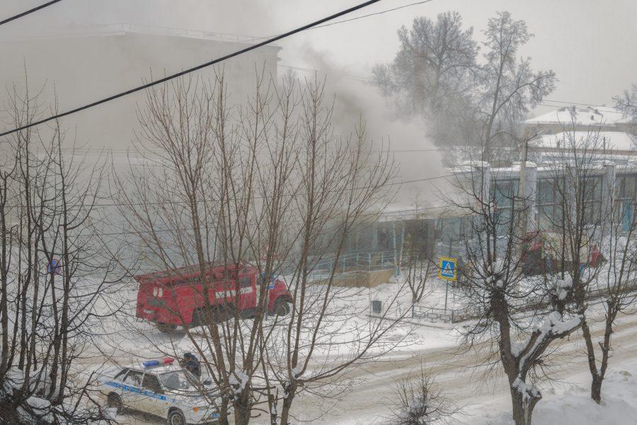 Пожар 4 марта на улице Советская, 17