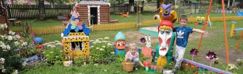 Территория детского сада «Тополек» г.Южи— лучшая в области