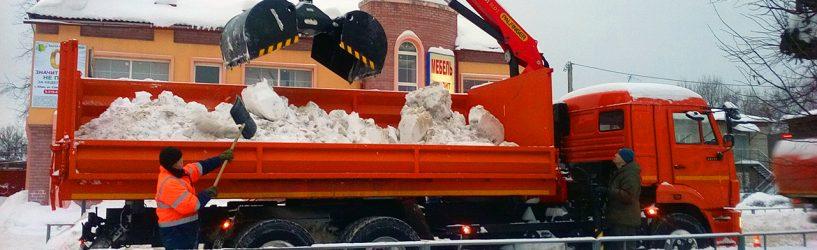 Снежная работа южских коммунальщиков