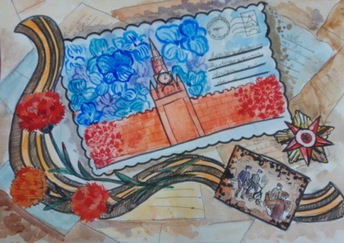 Работа воспитанницы южской ДШИ победитель всероссийского  конкурса «Изобразительный диктант».