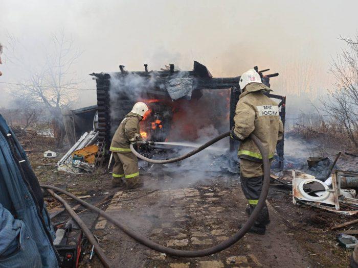 В Юже сгорел гараж