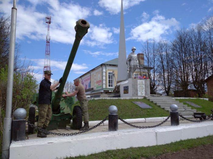 В Юже на Юбилейной площади  реставрируют памятник