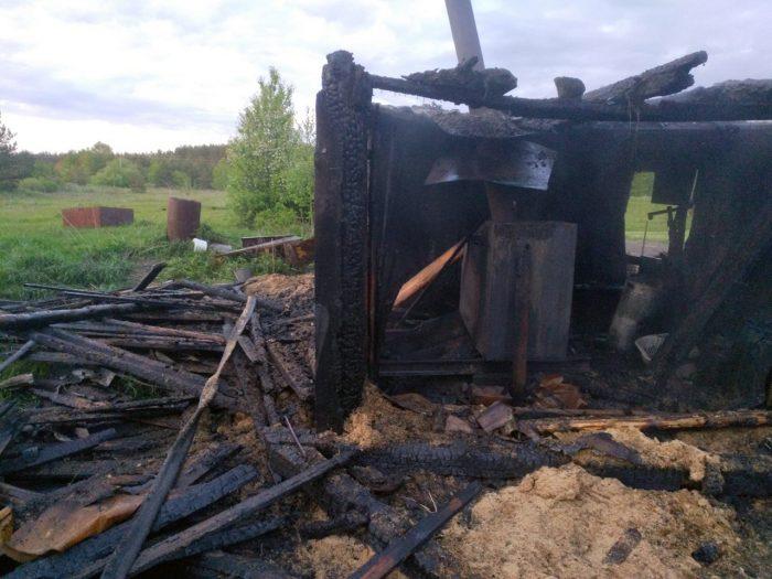 В деревне Глушицы Южского района сгорела баня из-за нарушения эксплуатации печного оборудования