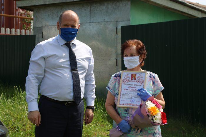Глава Южского района поблагодарил за многолетний труд заведующую детским садом